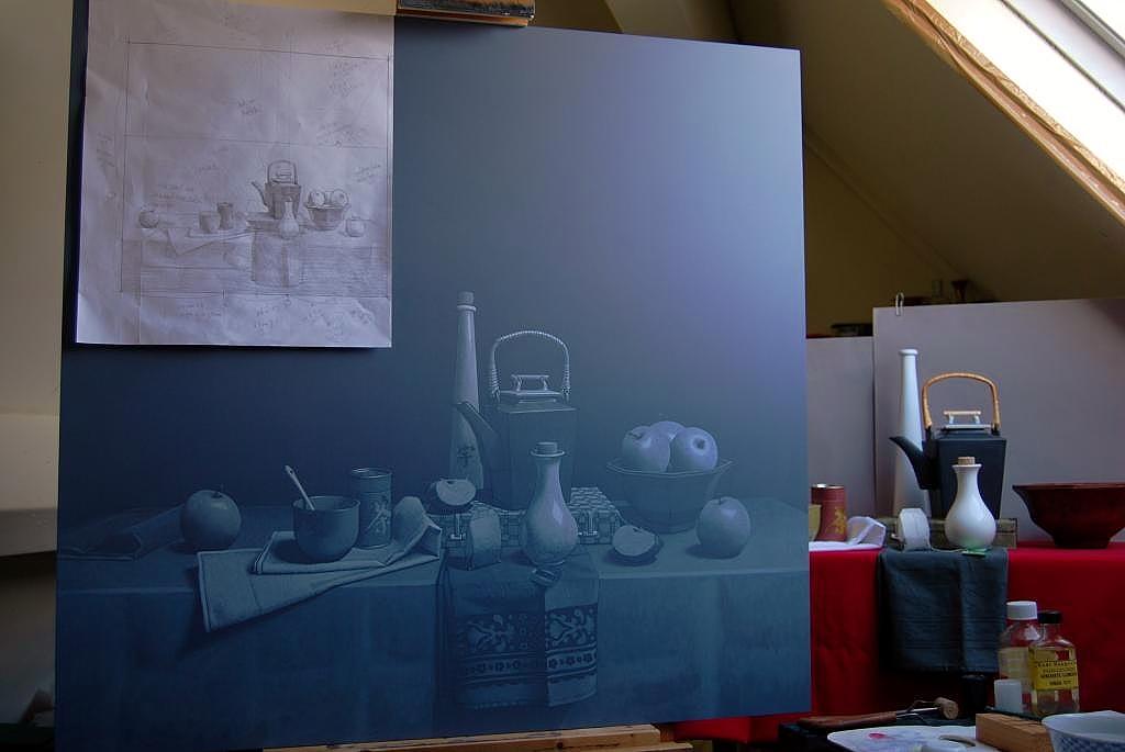 grisaille-groot-schilderij