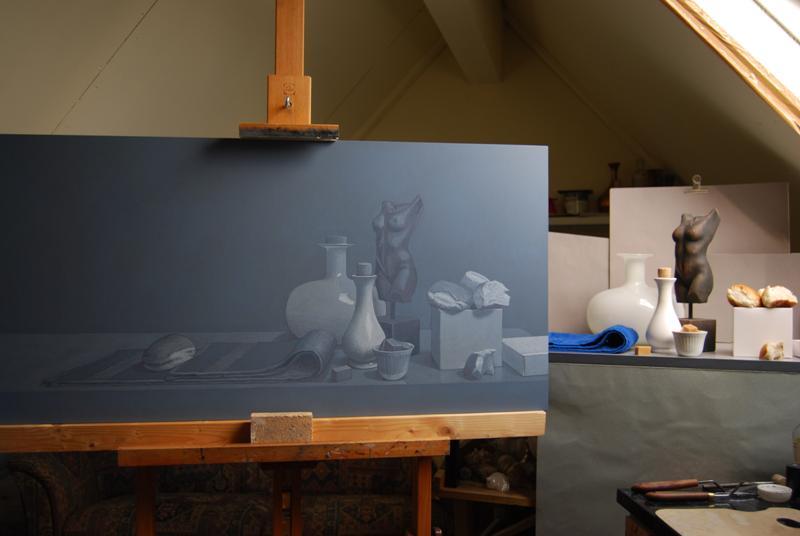 Actie in het atelier...